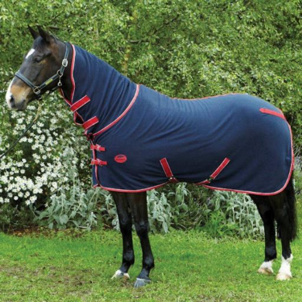 Weatherbeeta Polar Fleece Cooler Combo Navy & Red